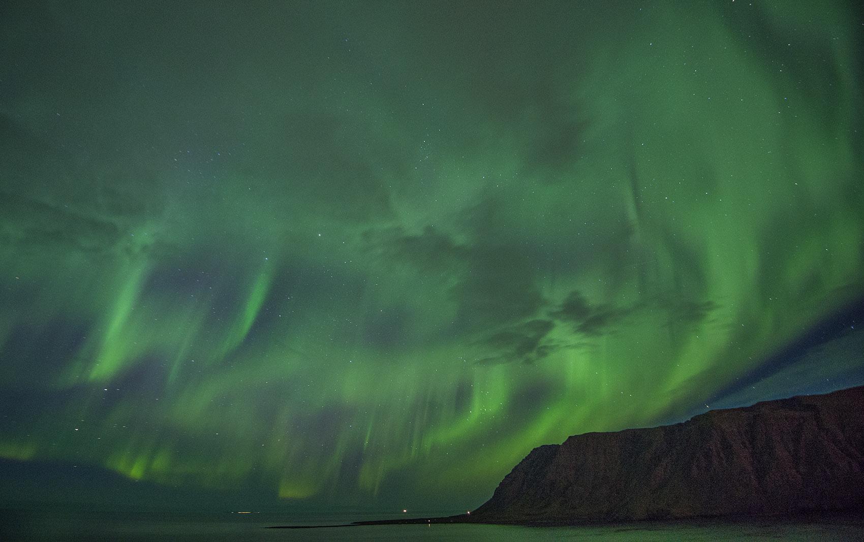 Aurora Siglufjordur Iceland