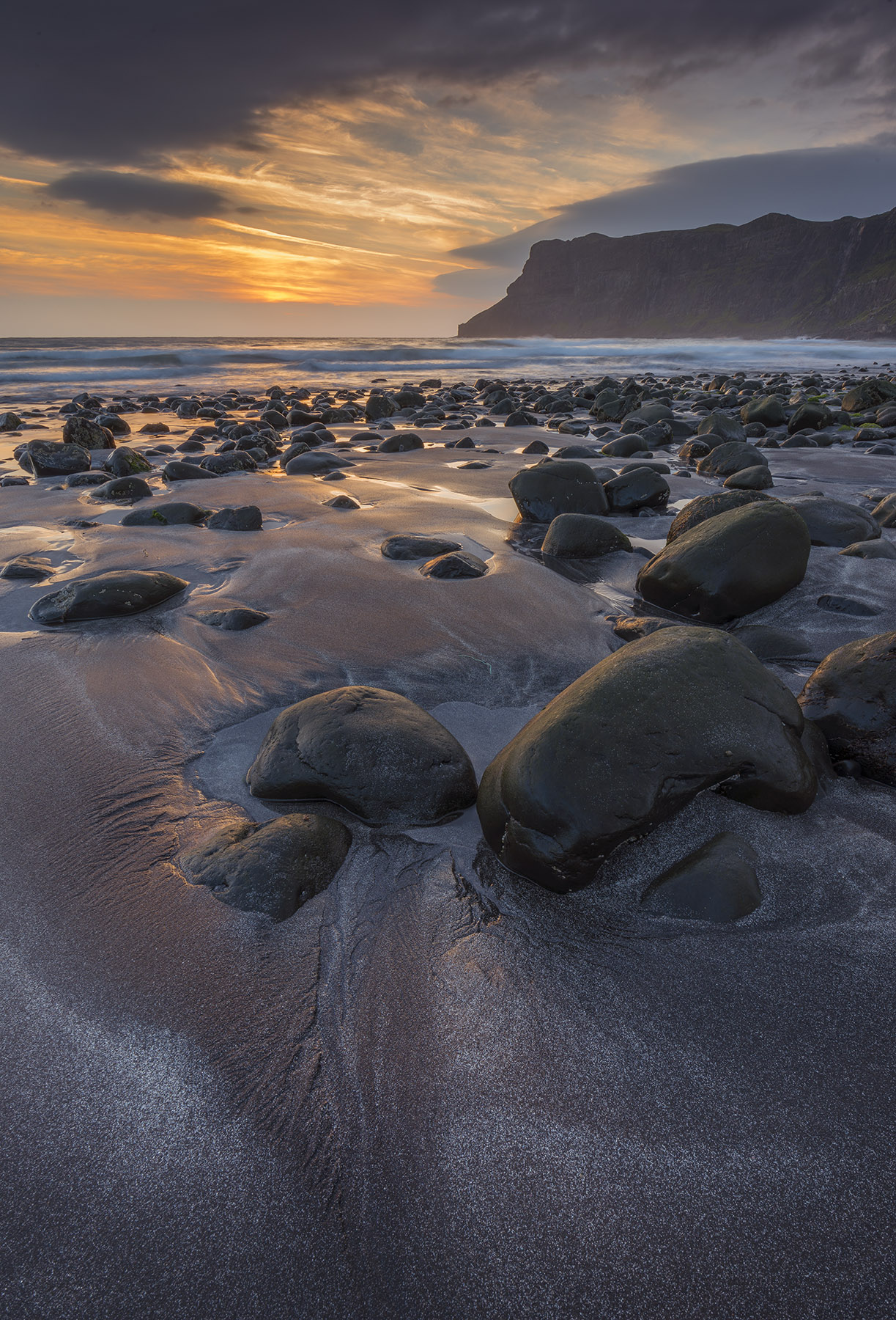 Talisker bay at dusk