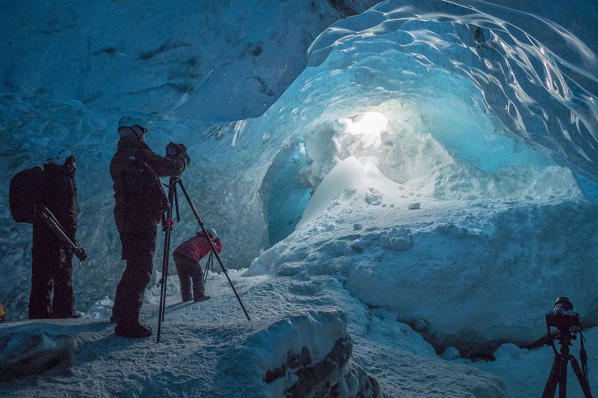 Capturing ice caves in Iceland