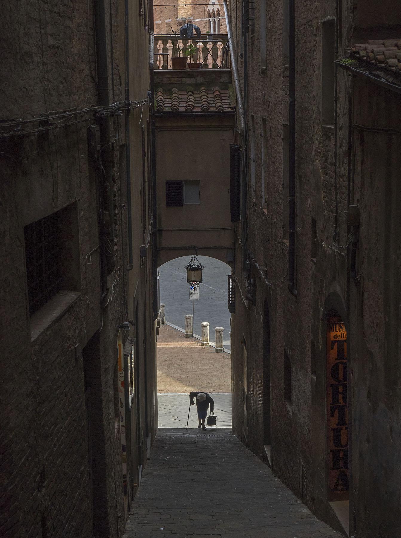 Siena scene Tuscany Italy