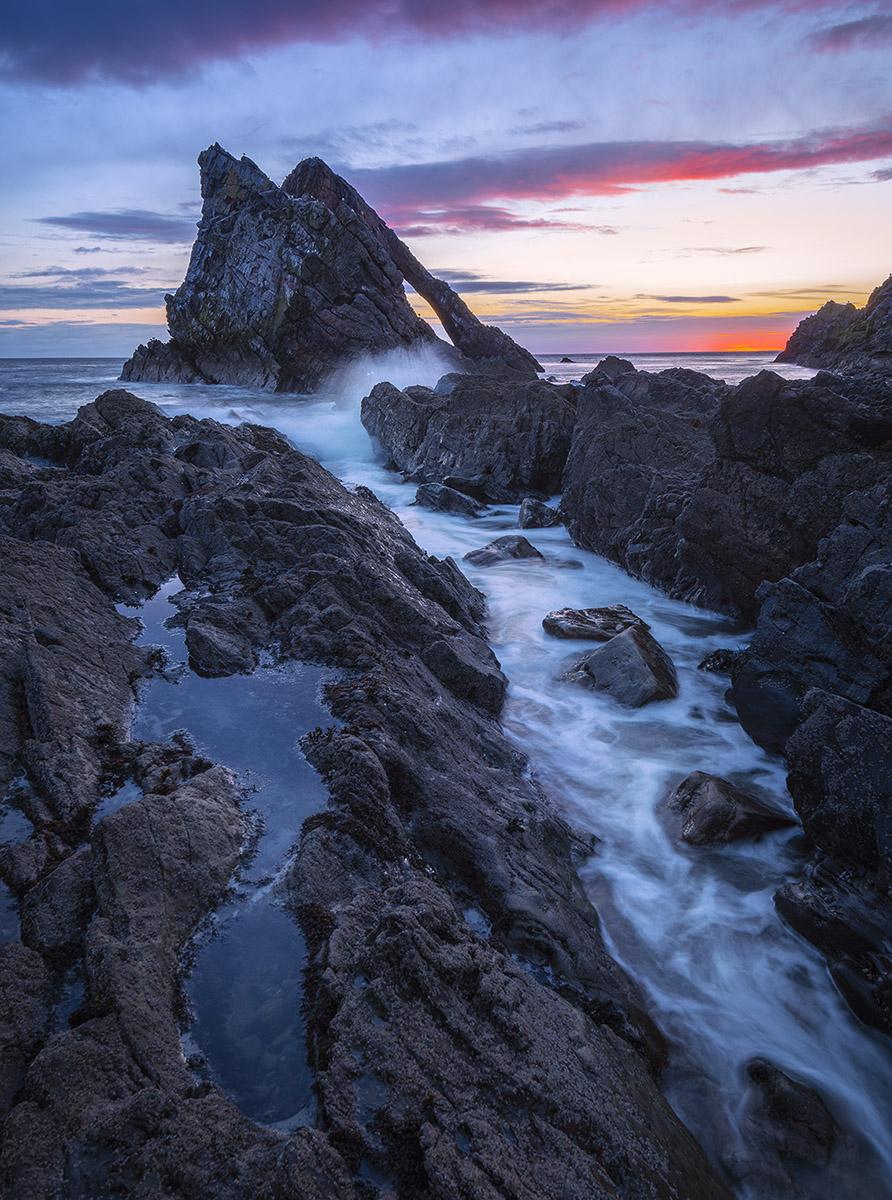 Bow Fiddle Rock Moray Coast Scotland