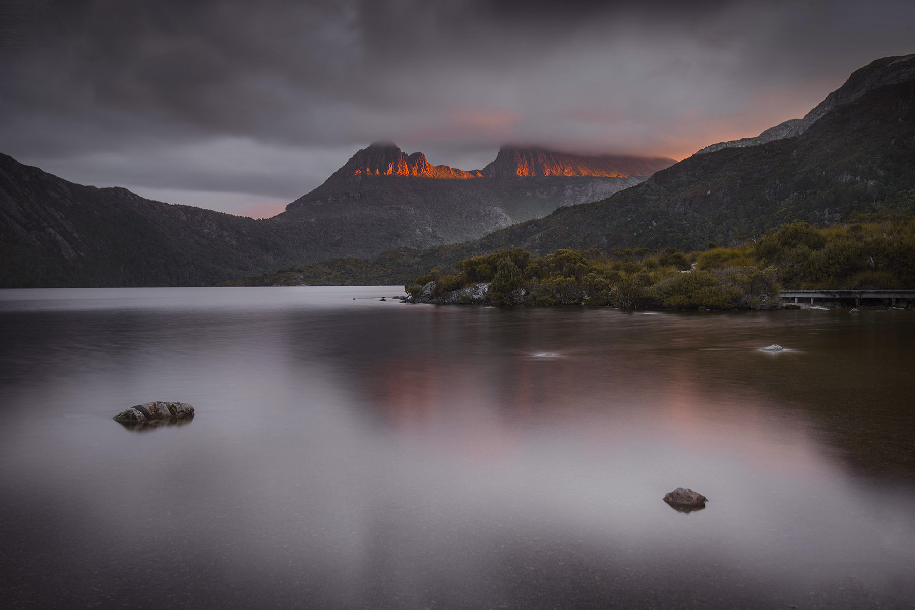 Cradle Mountain fire